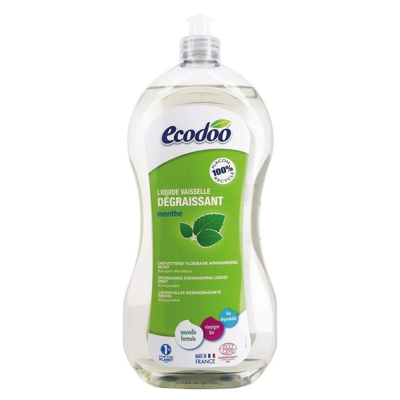 Detergent de vase ecologic ultradegresant cu menta, 1L - Ecodoo