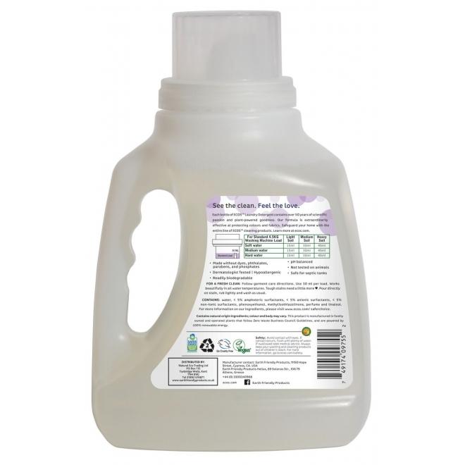 Detergent lichid pentru rufe Lavanda, 1,5 litri - ECOS