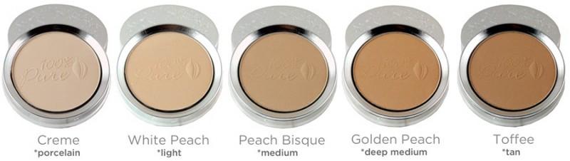 Pudra cu pigmenti din fructe si antioxidanti, Peach Bisque - 100 Percent Pure Cosmetics