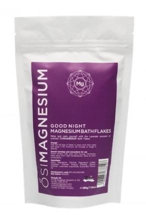 Fulgi de baie Good Night cu magneziu si lavanda, 200g - OsiMagnesium