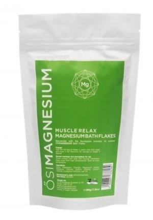 Fulgi de baie Muscle Relax cu magneziu si eucalipt, 200g - OsiMagnesium