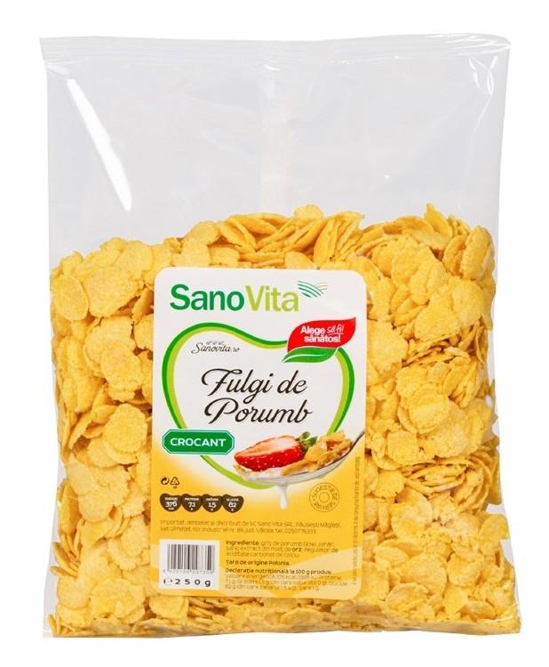 Fulgi de porumb crocant, 250g - SanoVita