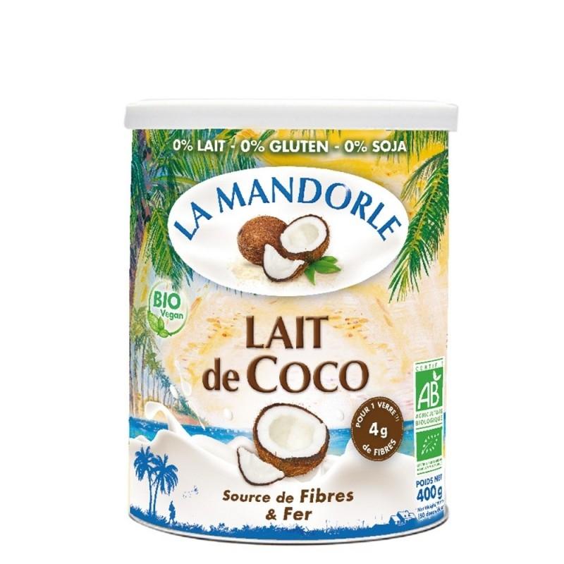 Lapte praf BIO de cocos, 400g - La Mandorle