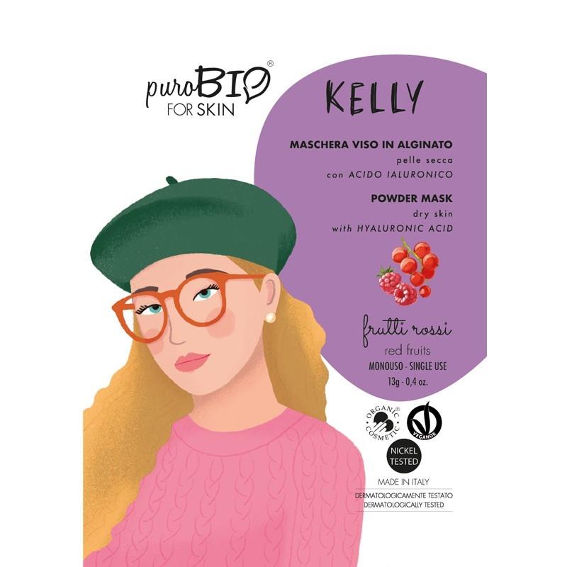 Masca peel-off ten uscat KELLY fructe rosii, 13g - PuroBio