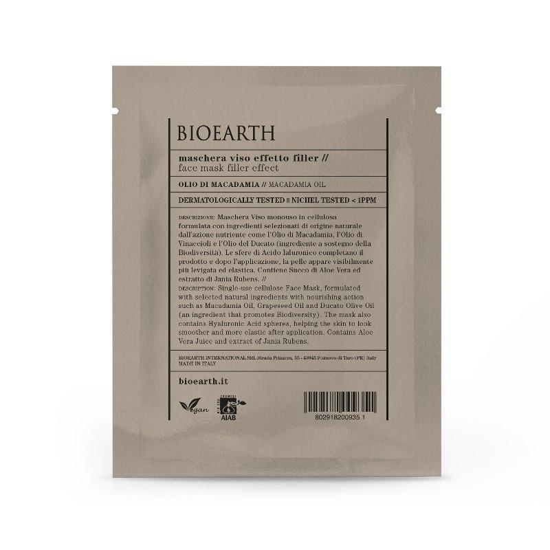Masca din celuloza cu ulei de macadamia, efect filler - Bioearth