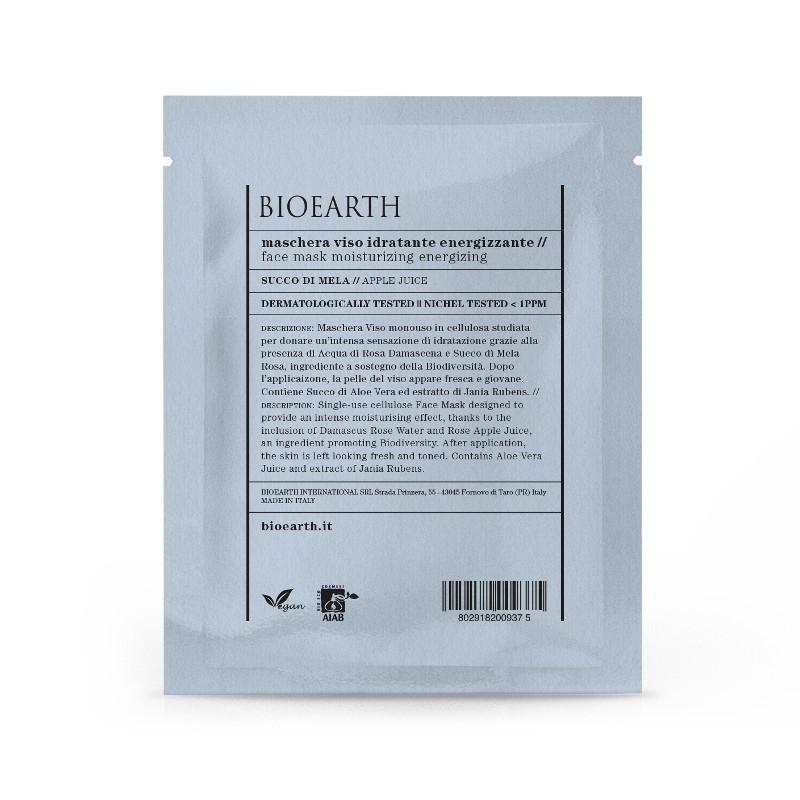 Masca din celuloza cu suc de mere, efect energizant - Bioearth
