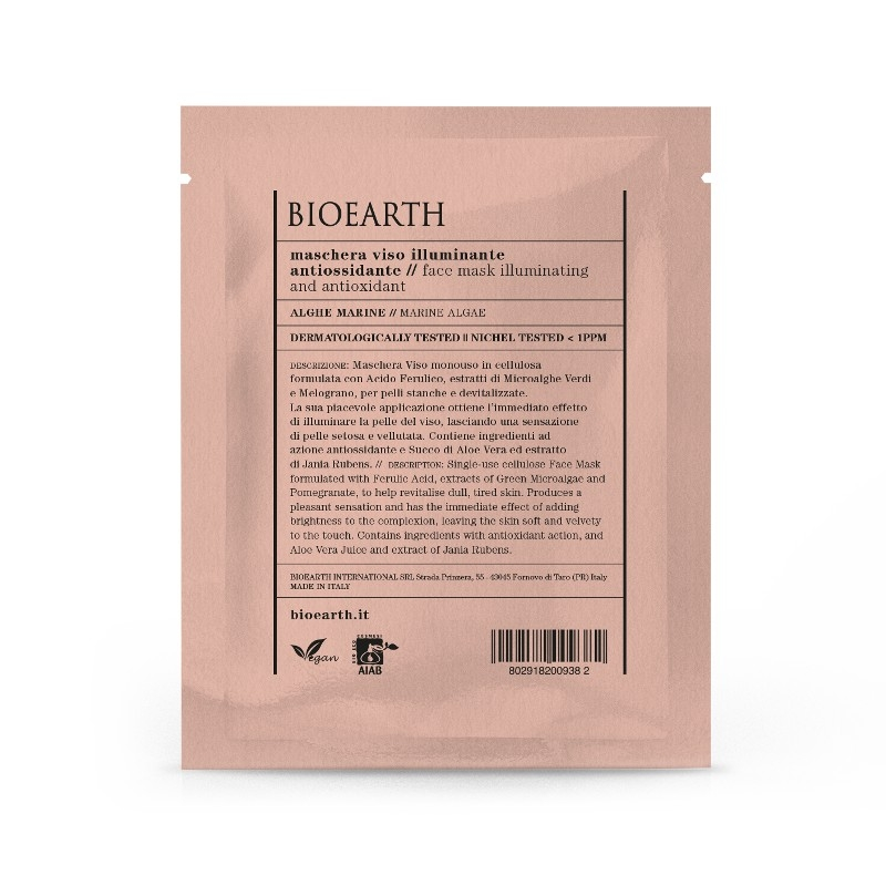Masca din celuloza cu alge marine, efect iluminator si antioxidant - Bioearth