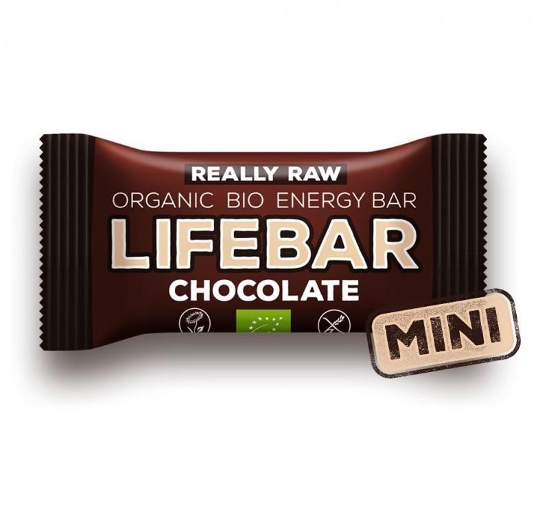Baton cu ciocolata raw bio, 25g - Lifebar