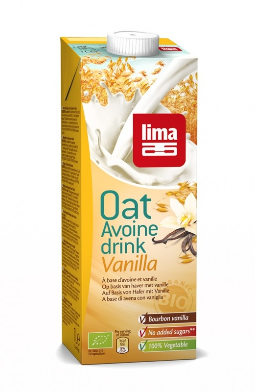 Lapte de ovaz bio cu vanilie Bourbon, 1L - Lima