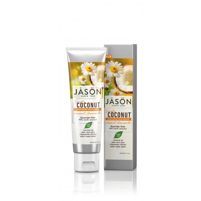 Pasta pentru dinti sensibili cu ulei de cocos si musetel, 119g - JASON