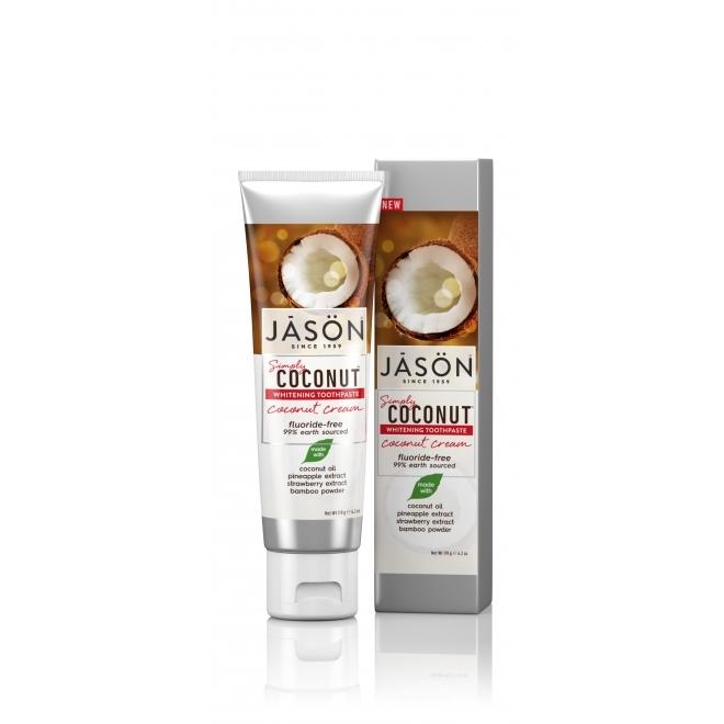 Pasta de dinti pentru albire cu crema de cocos, 119g - JASON