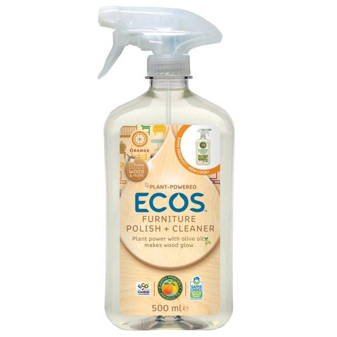 Solutie polish pentru curatare si luciu mobila, 500 ml - ECOS
