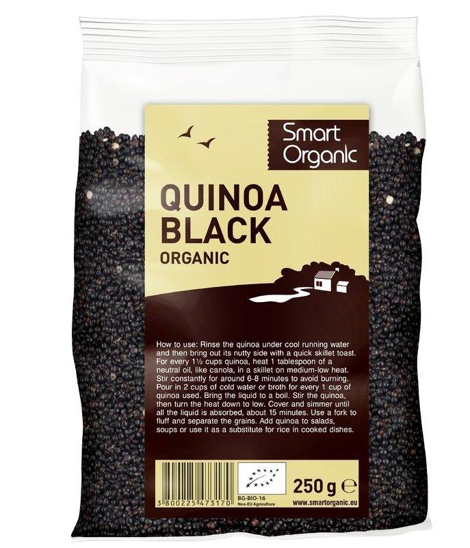 Quinoa neagra bio, 250g - Smart Organic