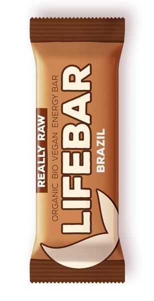 Baton cu nuci braziliene raw bio, 47g - Lifebar