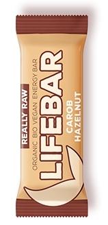 Baton cu alune si carob raw bio, 47g - Lifebar