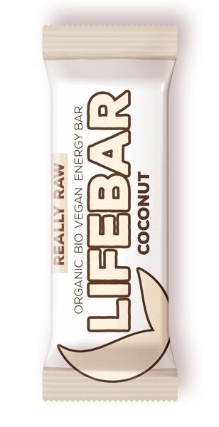 Baton cu nuca de cocos raw bio, 47g - Lifebar