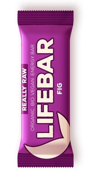 Baton cu smochine raw bio, 47g - Lifebar