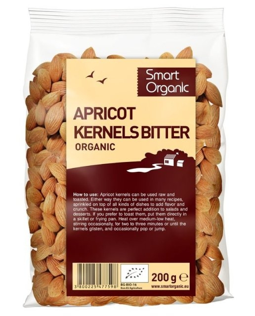 Samburi de caise amari raw bio, 200g  - Smart Organic