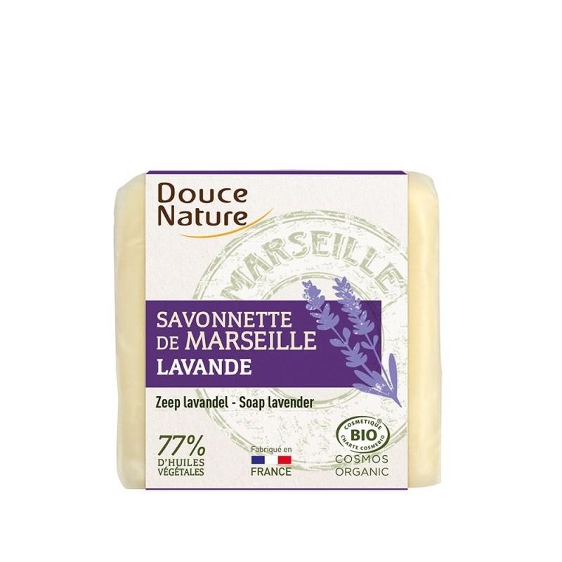Sapun bio de Marsilia cu lavanda, 100g - DOUCE NATURE