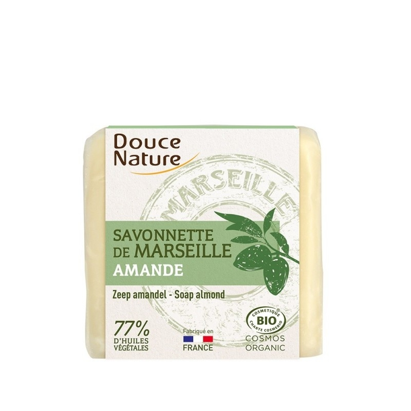 Sapun bio de Marsilia cu migdale, 100g - DOUCE NATURE