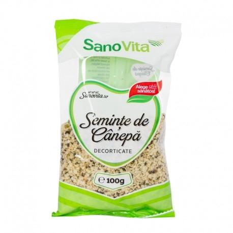Seminte de canepa decorticate, 100g - SanoVita
