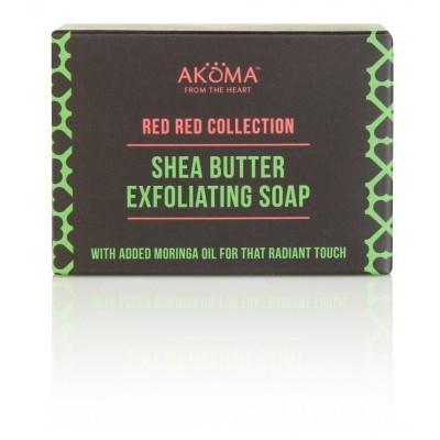 Sapun exfoliant cu unt de shea si Moringa - Akoma Skincare