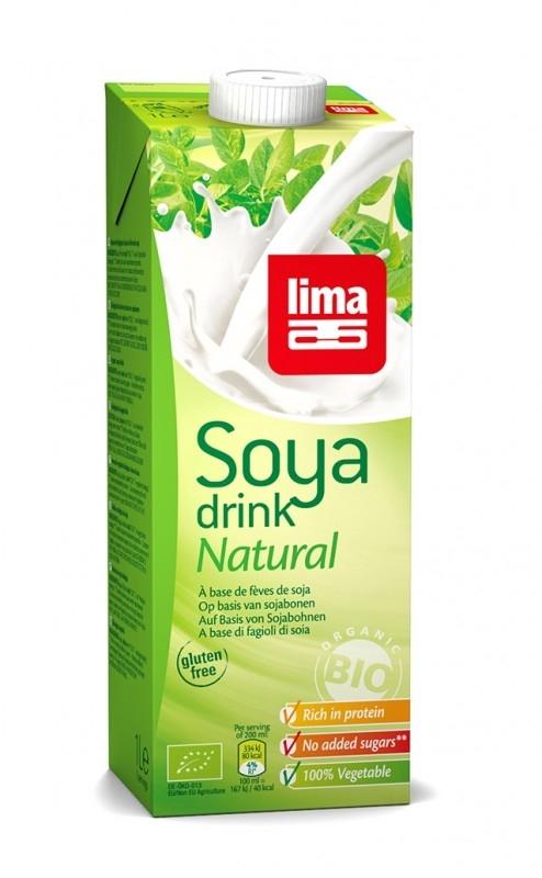 Lapte de soia bio, 1L -  Lima