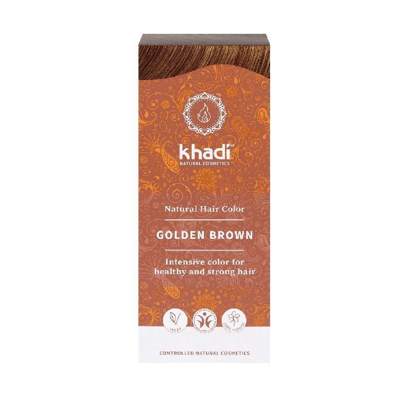 Vopsea de par naturala Saten Auriu - Khadi