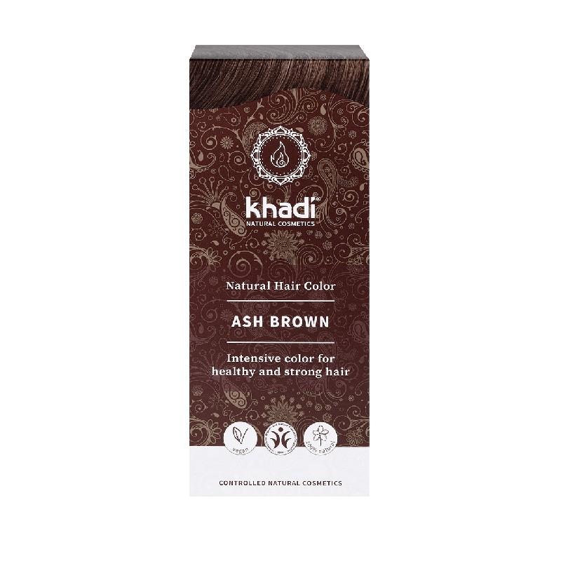 Vopsea de par naturala Saten Cenusiu - Khadi