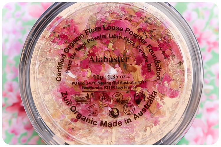 Pudra libera matifianta cu petale de trandafir, Alabaster - ZUII Organic